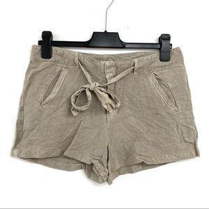 Lucky Brand Linen Blend High Waist Shorts